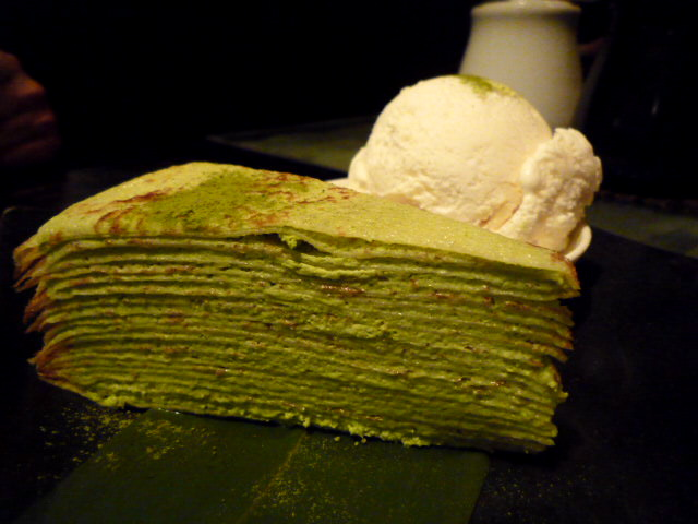 Lady M's green tea Mille Crepes