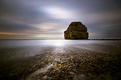 If this is July give me December... (dan barron photography - landscape work) Tags: longexposure light sunset seascape beach rock waves pebbles northumberland southshields marsdenbay