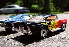 (thespanishtaco) Tags: macro chevrolet canon flames chevelle chevy hotwheels 57chevy dragrace canonpowershotsx110is