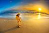 . (mylaphotography) Tags: ocean california sunset sea sky orange beach yellow golden sandiego yesterday raincoat raingear
