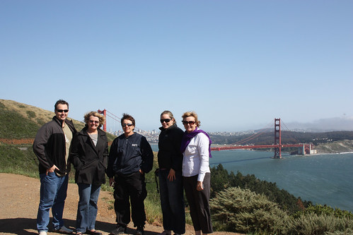 Mat, Lynne, Pauline, Kelly Madonna and Golden Gate Bridge