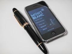 "iPhone app. ""MONTBLANC pen"""