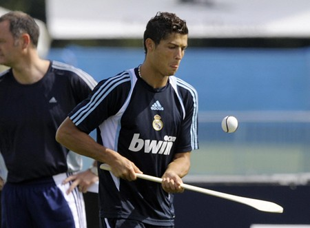 Cristiano Ronaldo takes up his Caman by Slugger O'Toole.
