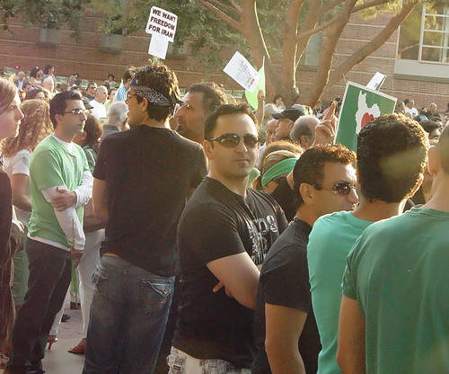 WeWant Freedom for Iran - Rally at UCLA - July 25, 2009