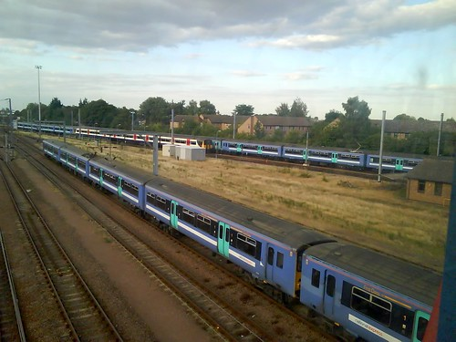 The row of trains in the foreground went on for ages - I think it was at least 24 carriages.