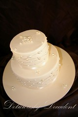 Baby Pearl (Deliciously Decadent (Taya)) Tags: wedding cake beds ivory jewelry pearl jewels bejeweled strung