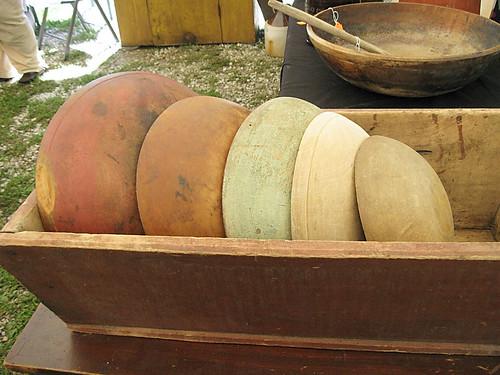 Zoar, Ohio Harvest Festival 2009:  Wooden bowls.