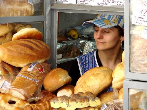 Woman at Bakery - Timisoara - Romania