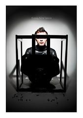 Privation (Aline Spezia) Tags: black male look dark eyes blind spot preto jail homem prisoner prisao prisioneiro privation
