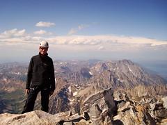Standing atop the Grand Teton (JP Shooter) Tags: camping mountains hiking backpacking wyoming rockclimbing grandteton grandtetonnationalpark tetonmountains