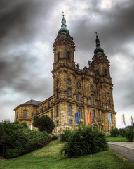 Basilika Vierzehnheiligen / Basilica of the Fourteen Holy Helpers (rawshooter72) Tags: sky church architecture clouds canon is ixus hdr 82 rococo hdri photomatix tonemapped vierzehnheiligen chdk