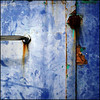 (Katerina.) Tags: blue abstract texture rust urbandecay bluebrown 500x500 doordetail haphazart haphazartblue ministract haphazartsquare haphazartindigo