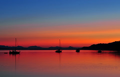 Stillness Galiano Island (Ireena Eleonora Worthy) Tags: pictures sunset sky orange canada beach water beautiful outdoors bay photo sand scenery rocks waves sailing peace bc photos pics britishcolumbia awesome scenic victoria explore vancouverisland serenity sailboats westcoast galianoisland montagueharbour calmwaters nikond700 vosplusbellesphotos ireenaeleonora