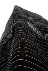 (aqua2) Detail, Aqua Tower, Chicago, 2009 (jeffery c johnson) Tags: urban usa chicago detail art water beautiful lines architecture america skyscraper illinois midwest aqua organic studiogang aquatower