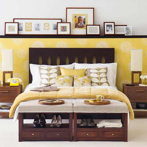 Yellow bedroom: Cheery and fun, despite creepiness