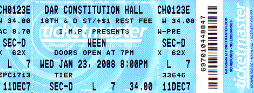 20080123 - Ween ticket stub