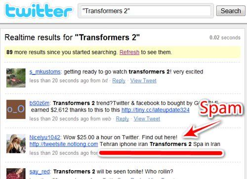 spam en trending topics twitter