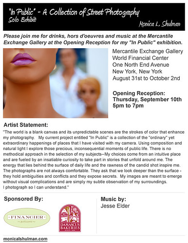 Monica L. Shulman Photography Solo Exhibition - Mercantile Exchange Gallery