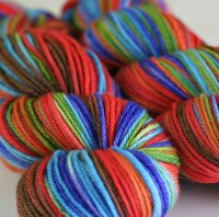 'rustic rainbow' variation on Willow Superwash
