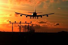 747-400 on 26R (AEROPLOT) Tags: sunset vancouver airplane airport aircraft landing yvr 747400 aeroplot