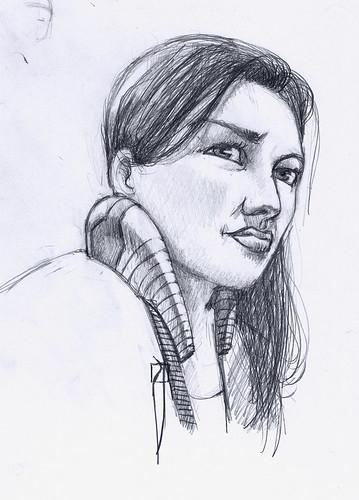 Woman's sketch