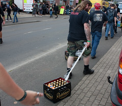 Primary (noisy) method of beer crate transportation