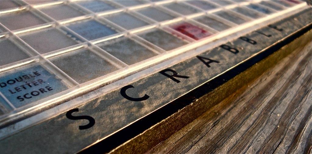 Scrabble close up