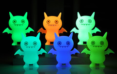 Icebat Slumber Party (ecpica) Tags: toys glowinthedark uglydoll icebat gid davidhorvath playcommy