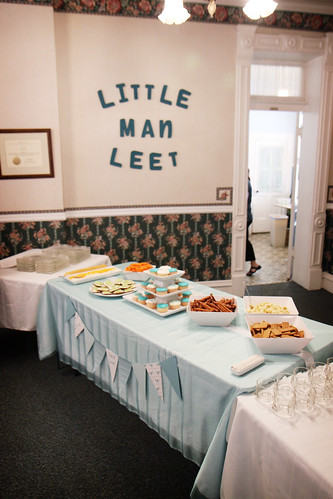 . baby shower for little man leet .