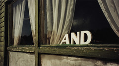 AND (mincingmockingbird) Tags: window lettering sign curtains weathered words letters text