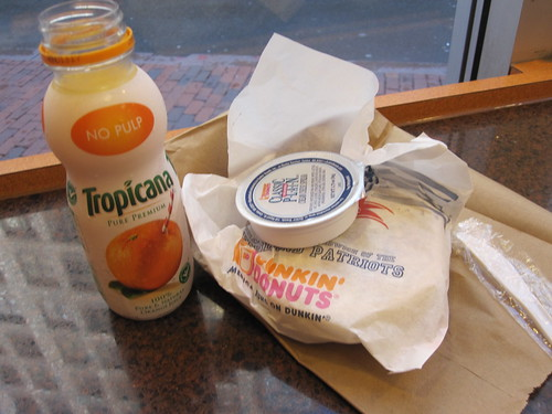 Breakfast at Dunkin' Donuts - $6.38