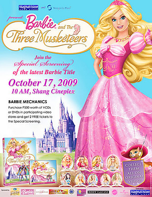Barbie and the three musketeers movie