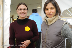 Volunteers Sarah Peters and Gena Hamshaw