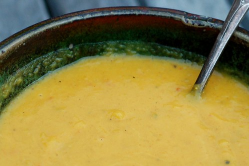 curried butternut squash soup by Eve Fox, Garden of Eating blog