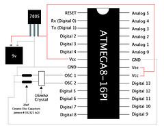 Arduino Standalone + Pinout (pluseinn) Tags: arduino 7805 pinout standalone
