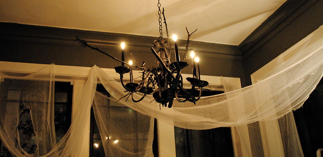 Black Halloween Chandelier