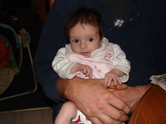 Sitting with Daddy (jenpilot) Tags: baby home halloween pumpkin infant daughter carving amelia artie 2mos 11wks