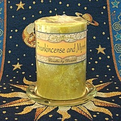 Frankincense and Myrrh scented natural palm wax pillar candle (candleguy821) Tags: christmas handmade pillar yule strong centerpiece homedecor newage scented artfire myrrh frankincense handpoured pillarcandle palmwax 3inchdiameter