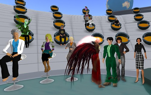 Mark presenting in Second Life