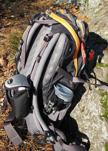 Pack, camera bag, tripod
