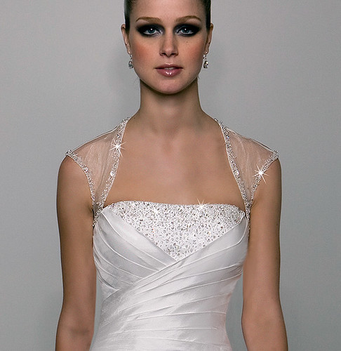 an elegant wedding dress.