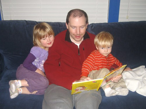 Jon reading to the kiddos