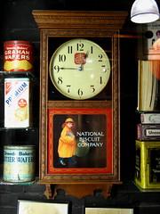 national bisquit (omoo) Tags: newyorkcity clock vintage advertising chelsea market manhattan wallclock chelseamarket 1900s regulator nabisco convertedindustrialbuilding foodtins nabiscodisplayinchelseamarket nationalbisquitcompany