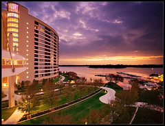 Bay Lake Mornings (Jeff_B.) Tags: morning orlando epcot florida contemporary disney resort disneyworld wdw waltdisney dvc contemporaryresort baylake sevenseaslagoon disneyvacationclub disneyphotography baylaketower