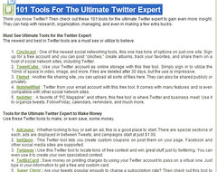 101 Twitter Tools for Experts