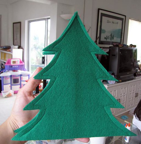 cut and sew Christmas tree