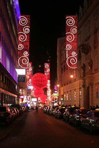 a Vienna street at Christmas-time