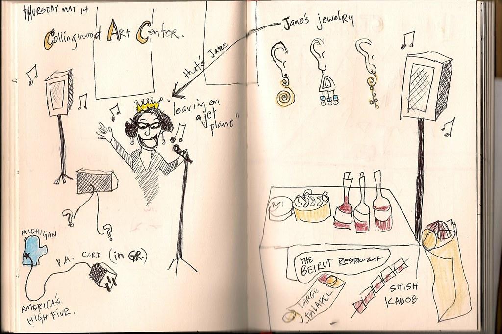 Tour Doodle 2009: Pages 2 & 3