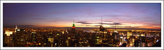 TOTR Panoramic (paulmcdee) Tags: new york city nyc travel sunset sky usa building architecture night clouds lumix lights skyscrapers state manhattan centre panasonic midtown empire chrysler rockefeller bigapple topoftherock 5photosaday totr dmctz5 topqualityimagesonly sidebarpaul