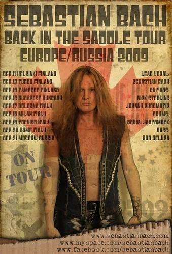 Sebastian Bach European Tour '09 Poster #3